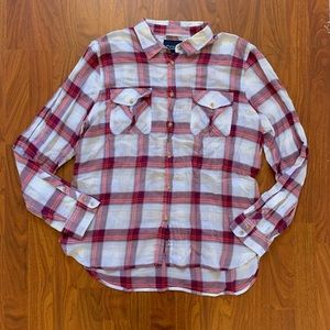 AEO Plaid Lightweight Cotton Button Down Shirt